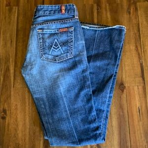 7 for All Mankind Blue A pocket, flared, sz 26